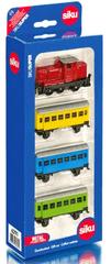 SIKU Zestaw kolejkowy, lokomotywa + 3 wagoniki