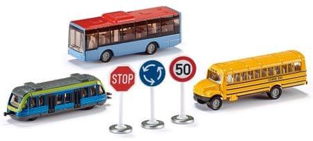 SIKU komplet mestnih vozil + prometni znaki