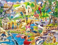LARSEN Puzzle set Děti v zoo a Arktida