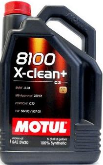 Motul olje 8100 X-Clean Plus 5W-30, 1 liter