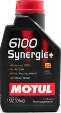 Motul olje 6100 Synergie Plus 10W-40, 1 liter