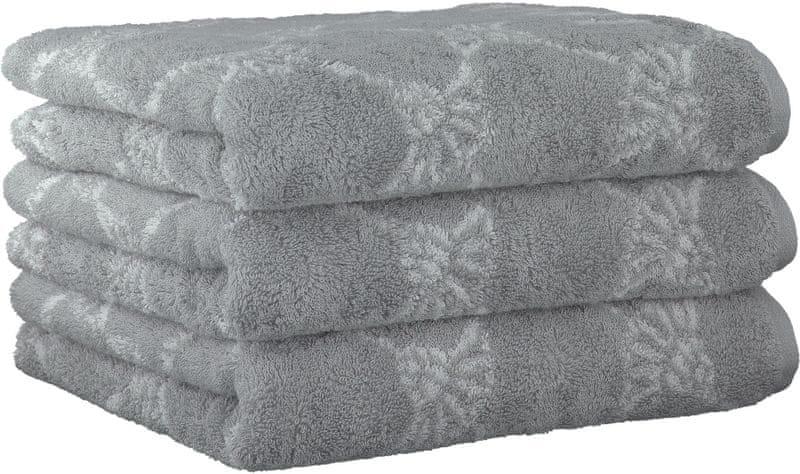 Joop! 3ks ručníky 50x100 cm, cornflower šedá