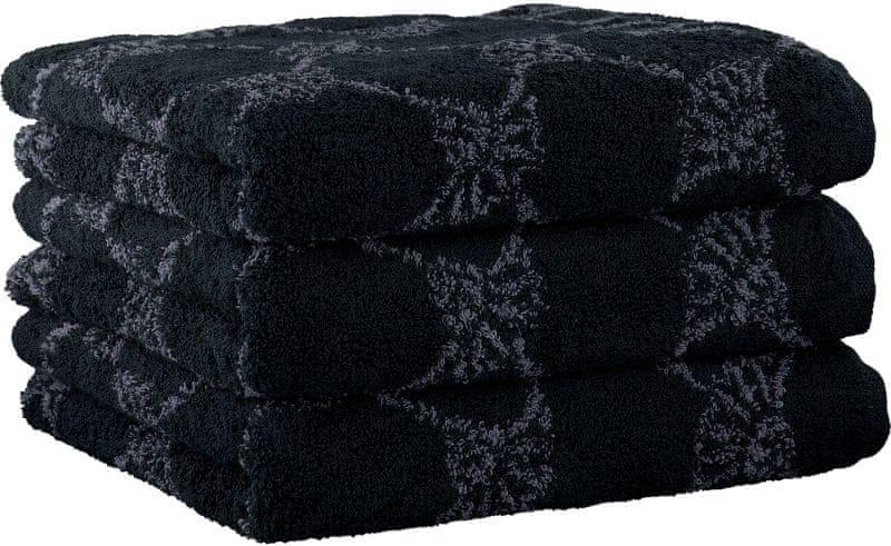 Joop! 3ks ručníky 50x100 cm, cornflower černá