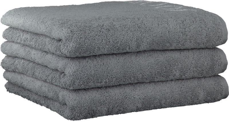Joop! 3ks ručníky 50x100 cm, doubleface šedá