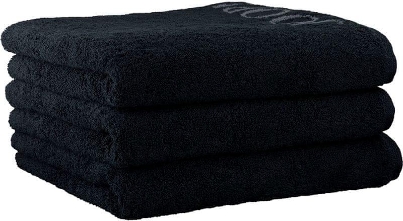 Joop! 3ks ručníky 50x100 cm, doubleface černá