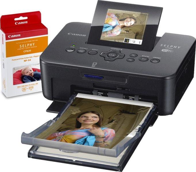 Canon CP910 SELPHY Black + RP-54 Print Kit