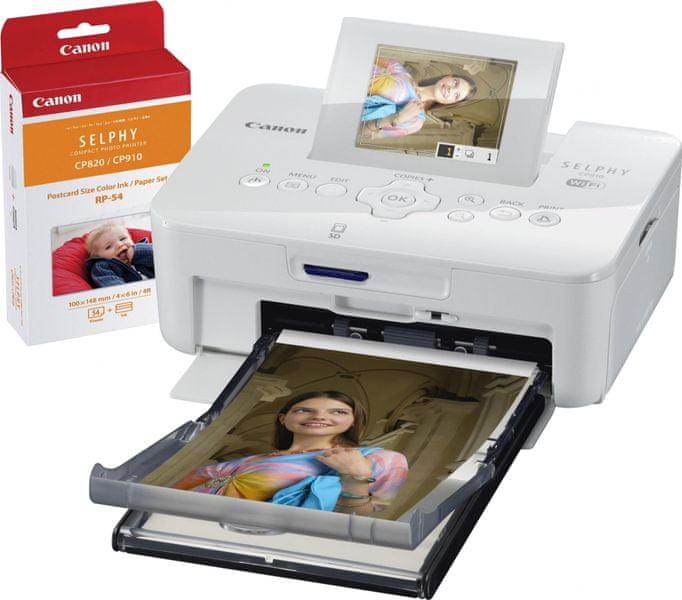 Canon CP910 SELPHY White + RP-54 Print Kit