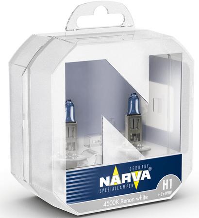 Narva žarnica 12V-H1-85W Range Power White + W5W, 2 kos