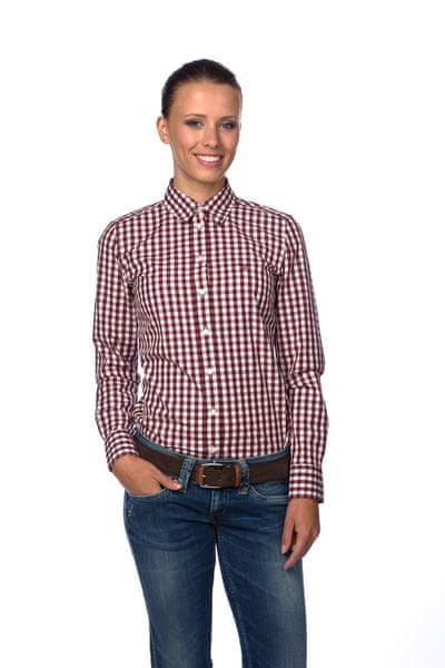 Gant dámská kostkovaná košile 34 vínová