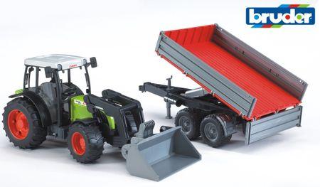 BRUDER Traktor Claas Nectis 267 F s čelným nakladačom a prívesom