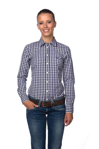 Gant dámská kostkovaná košile 34 modrá