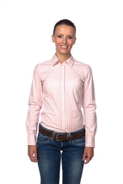 Gant dámská kostkovaná košile 34 světle růžová