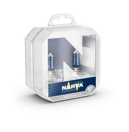 Narva žarnica 12V-H7-85W Range Power White + W5W, 2 kosa