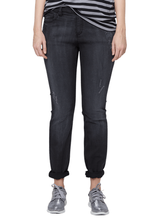 s.Oliver dámské jeansy pro plnoštíhlé 52/34 černá