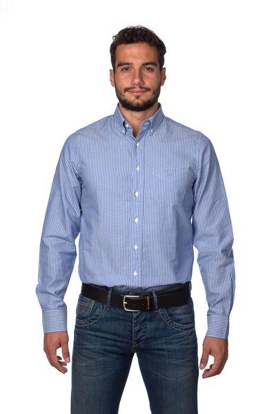 Gant pánská proužkovaná košile XXXL modrá