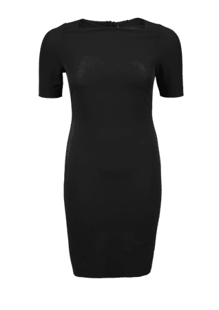 s.Oliver dámské šaty pro plnoštíhlé 48 černá