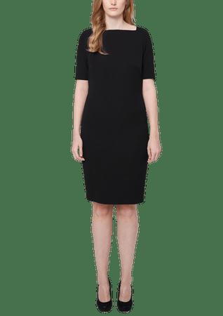 s.Oliver dámské šaty pro plnoštíhlé 50 černá