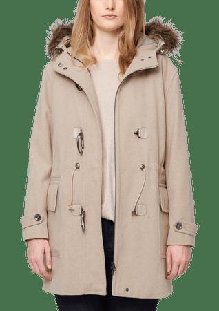 s.Oliver dámský kabát pro plnoštíhlé 52 béžová