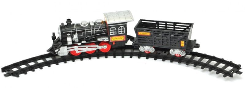 Teddies Vlak s vagónky a dráhou 70cm