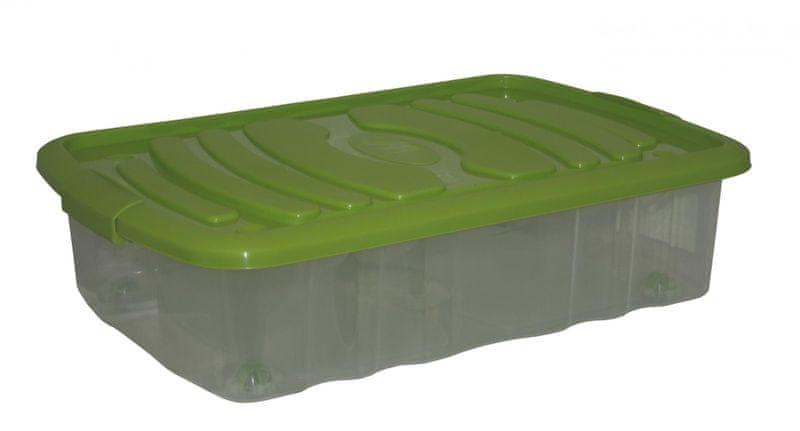 Mazzei Úložný box na kolečkách MINI BED - 22,5 litru zelená