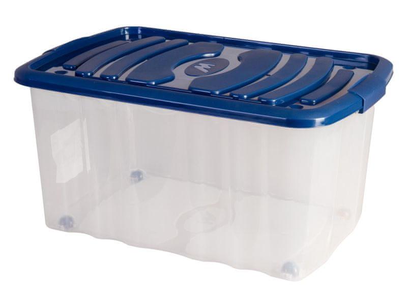 Mazzei Úložný box na kolečkách ROLL - 45 litrů modrá