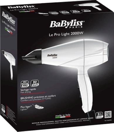 BaByliss 6604WE PRO hajszárító 2000W AC motorral a086b01719