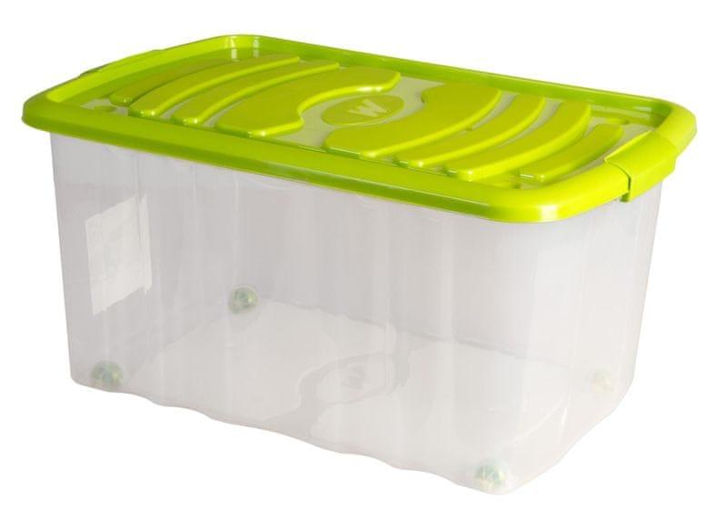 Mazzei Úložný box na kolečkách ROLL - 45 litrů zelená