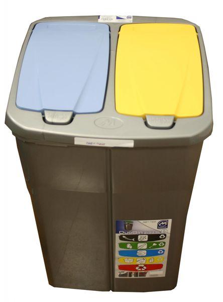 Mazzei Koš na tříděný odpad dvojitý 45l žlutá/modrá