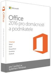 Microsoft Office 2016 pro domácnosti a podnikatele SK 1 PC  (T5D-02892)