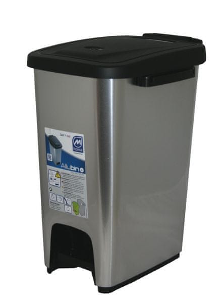 Mazzei Koš na odpadky ECOMETALFACE 27 l