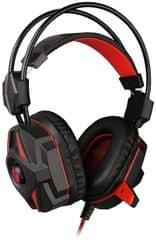 C-Tech słuchawki Kalypso (GHS-04R), czarno-czerwone