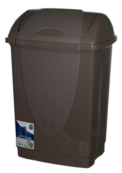 Mazzei Odpadkový koš výklopný 25 litrů hnědý