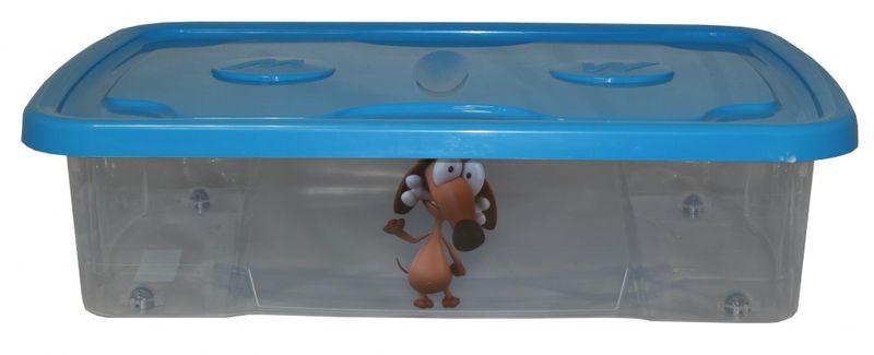 Mazzei Úložný box Dekor 23,5 l modré víko, dětský motiv