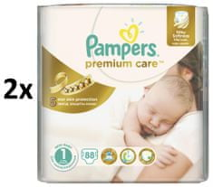Pampers pleničke Premium Care Newborn 1, 176 kosov