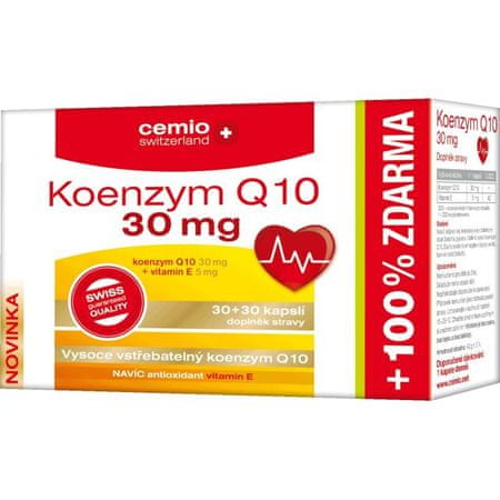 Cemio Koenzym Q10 30mg s biotinem cps.30+30 ČR-SK