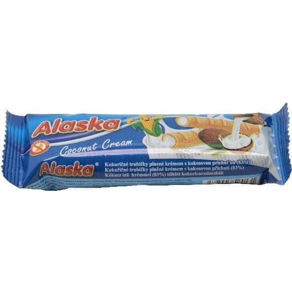 Kukuřičné trubičky Alaska kokosové 18g