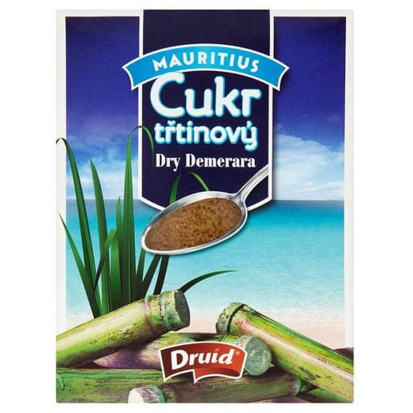 Třtinový cukr Dry Demera DRUID - krabička 400g