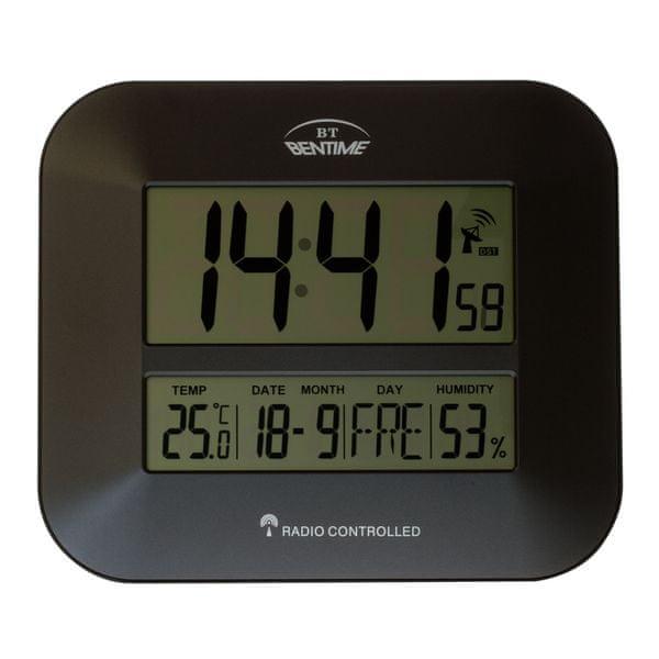 Bentime Rádiem řízené hodiny H15-ET843G - II. jakost