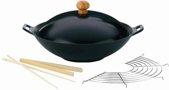 Kela wok iz litega železa z dodatki, 36 cm