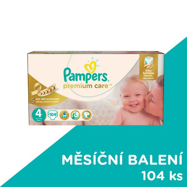 Pampers Pleny PremiumCare 4 Maxi - 104 ks