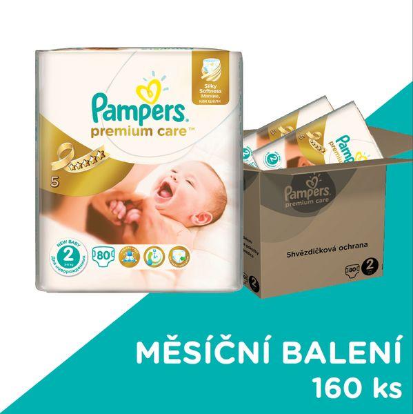 Pampers Pleny Premium Care 2 (Mini) 3-6 Kg - 160 ks