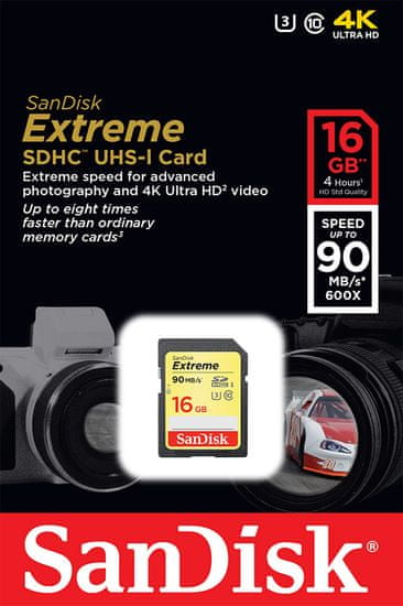 SanDisk karta pamięci EXTREME SDHC 16 GB (SDSDXNE-016G-GNCIN)