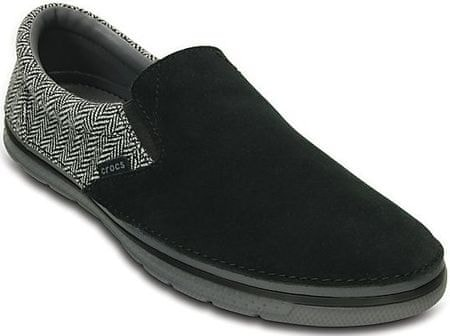 Crocs buty rekreacyjne Norlin Herringbone Slip-On M - Black/Charcoal 43-44 (M10)