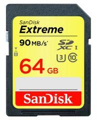 SanDisk SanDisk 64GB Extreme SDXC 90MB/s spominska kartica UHS-I class 10 (SDSDXNE-064G-GNCIN) - Odprta emba