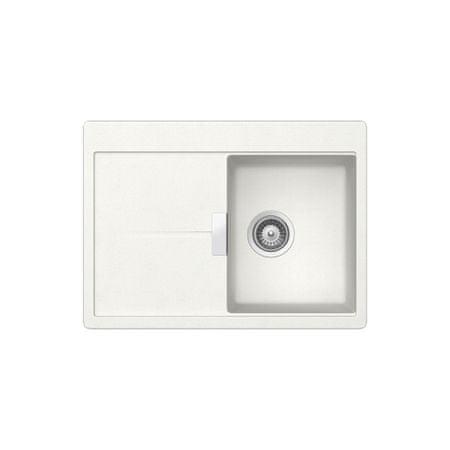 Teka zlewozmywak granitowy Gloria 40 B S-TG - biały (40145125)