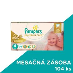 Pampers plienky PremiumCare 4 Maxi - 104 ks