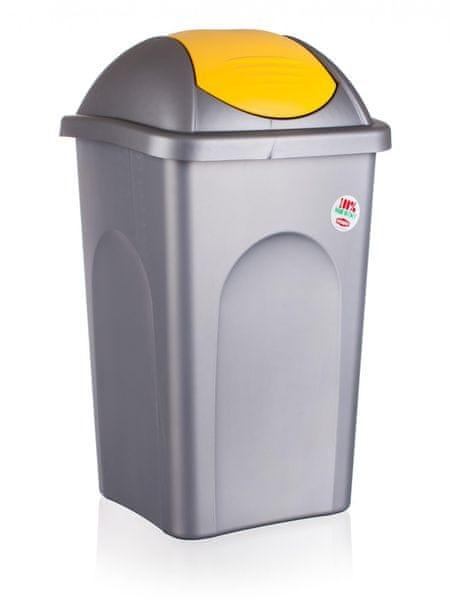 Stefanplast Odpadkový koš, 60 litrů, žlutá