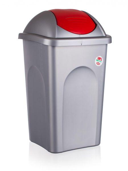Stefanplast Odpadkový koš, 60 litrů, červená