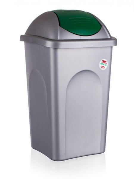 Stefanplast Odpadkový koš, 60 litrů, zelená