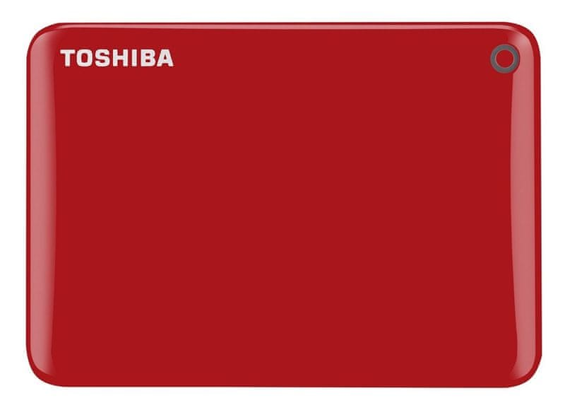 "TOSHIBA Canvio Connect II 1TB / Externí / USB 3.0 / 2,5"" / Red (HDTC810ER3AA)"